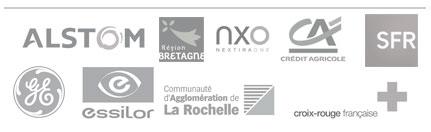Quelques logos des clients Simplicité